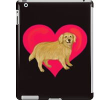 I Love Golden Retrievers iPad Case/Skin