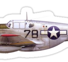 Vintage P-51 Mustang Tuskegee Airmen World War II Sticker