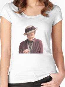 Lady Violet is my queen Women's Fitted Scoop T-Shirt