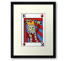 King Playing Card Framed Print