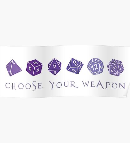 Choose Your Weapon   RPG Poster