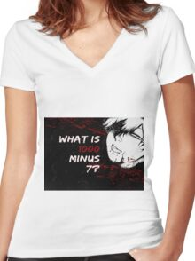 What Is 7 minus 1000? Women's Fitted V-Neck T-Shirt