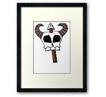 Spear Skull Framed Print