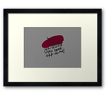 Silly beret Framed Print