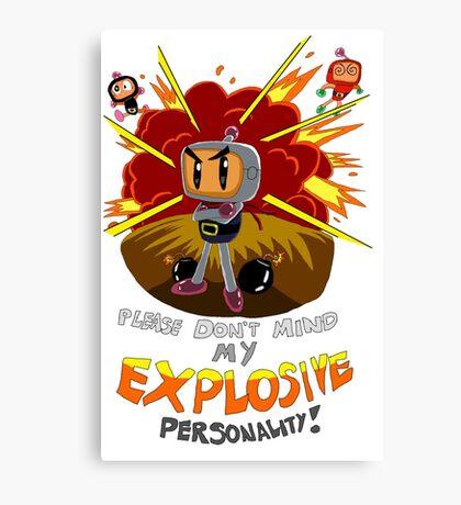 Bomberman's Explosive Personality Canvas Print