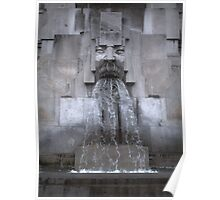 Milan Train Station Fountain Poster