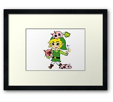 Link and the Windfall Island Pigs Framed Print