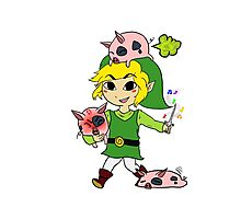 Link and the Windfall Island Pigs Photographic Print