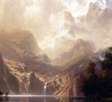 Bierstadt Among the Sierra Nevada Mountains Sticker