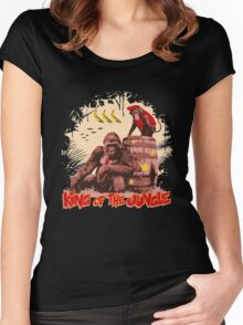Donkey Kong - King of the Jungle Women's Fitted Scoop T-Shirt