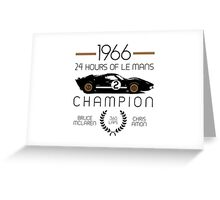 1966 24 Hours of Le Mans Champion #2 Ford GT40  Greeting Card