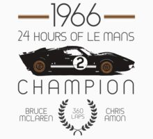 1966 24 Hours of Le Mans Champion #2 Ford GT40  Kids Tee