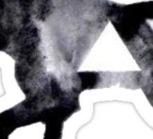 b&w moose silhouette Sticker
