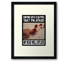 Funny Barbie- Beautiful Fear Framed Print
