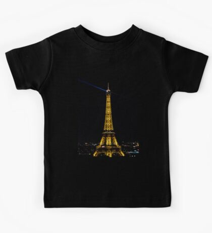 Eiffel tower at night Kids Tee