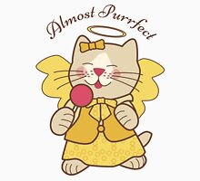 Almost Purrfect Angel Cat Womens Fitted T-Shirt