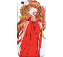 Girl in a Red Dress iPhone Case/Skin