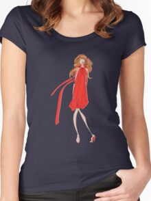 Girl in a Red Dress Women's Fitted Scoop T-Shirt