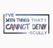 I've Seen Things That I Cannot Deny (Scully/X-Files) Kids Tee