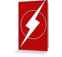 Simplistic Flash Symbol white Greeting Card