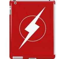 Simplistic Flash Symbol white iPad Case/Skin