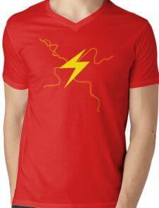 Fast Man Lightning Mens V-Neck T-Shirt