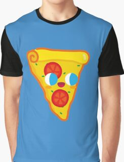 Happy Pizza Face Graphic T-Shirt