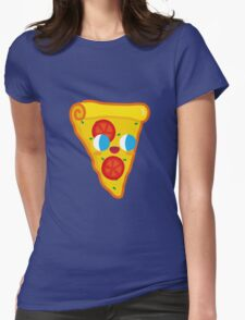 Happy Pizza Face Womens Fitted T-Shirt