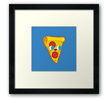 Happy Pizza Face Framed Print