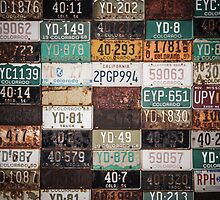 Licence Plates USA by Terrain75