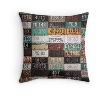 Licence Plates USA Throw Pillow