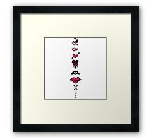 Coloured Love Framed Print