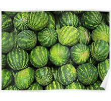 Watermelons at the Market Poster