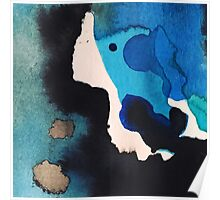 Blue Water & Ink No. 2 Poster