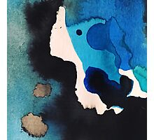 Blue Water & Ink No. 2 Photographic Print