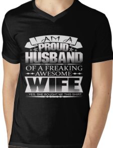 ** LIMITED EDITION ** PERFECT GIFT FOR PROUD HUSBAND - FROM HUSBAND Mens V-Neck T-Shirt