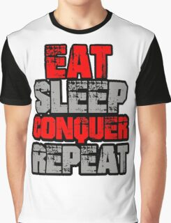 Eat Sleep Conquer Repeat Graphic T-Shirt