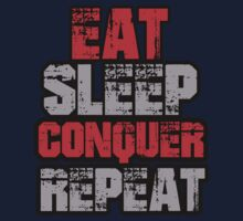 Eat Sleep Conquer Repeat Baby Tee