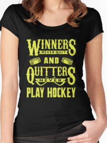 Hockey is for Winners Women's Fitted Scoop T-Shirt