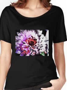 Cartoon Flowers Escapes Fence Women's Relaxed Fit T-Shirt