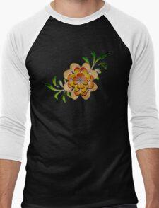 Tonal Flowers Men's Baseball ¾ T-Shirt