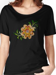 Tonal Flowers Women's Relaxed Fit T-Shirt
