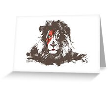 Bowie Lion Head Greeting Card