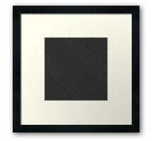 Carbon fibre Framed Print
