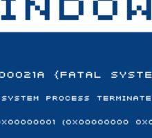 Blue Screen of Death Sticker