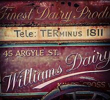 Vintage Dairy Sign by Gregory Dyer