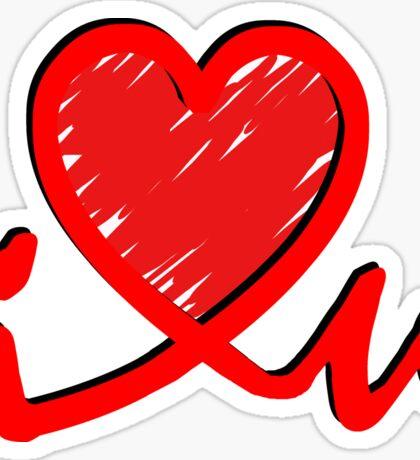 i 'Heart' U - Connected Heart Sticker