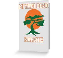 Miyagi Dojo Karate Greeting Card
