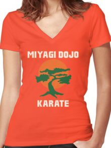 Miyagi Dojo Karate Women's Fitted V-Neck T-Shirt