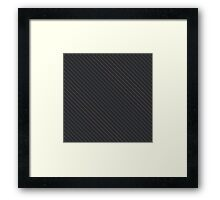 Carbon fibre - blue wire reinforcing Framed Print